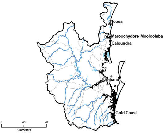South East Queensland Catchments QLD Region Detail